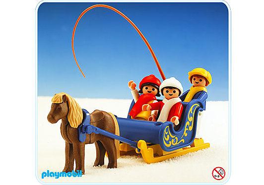 3391-A Traîneau attelle poneys / enfants detail image 1