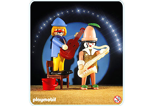 3392-A Musik-Clowns detail image 1