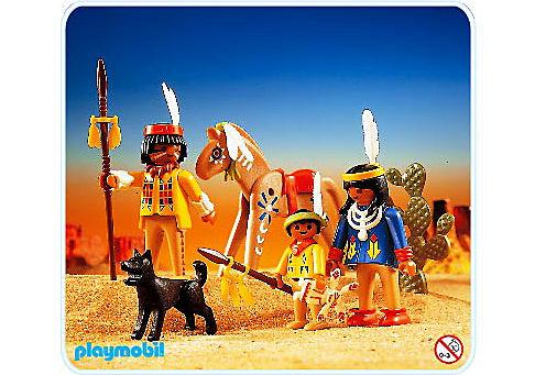 3396-A Indianer-Familie detail image 1