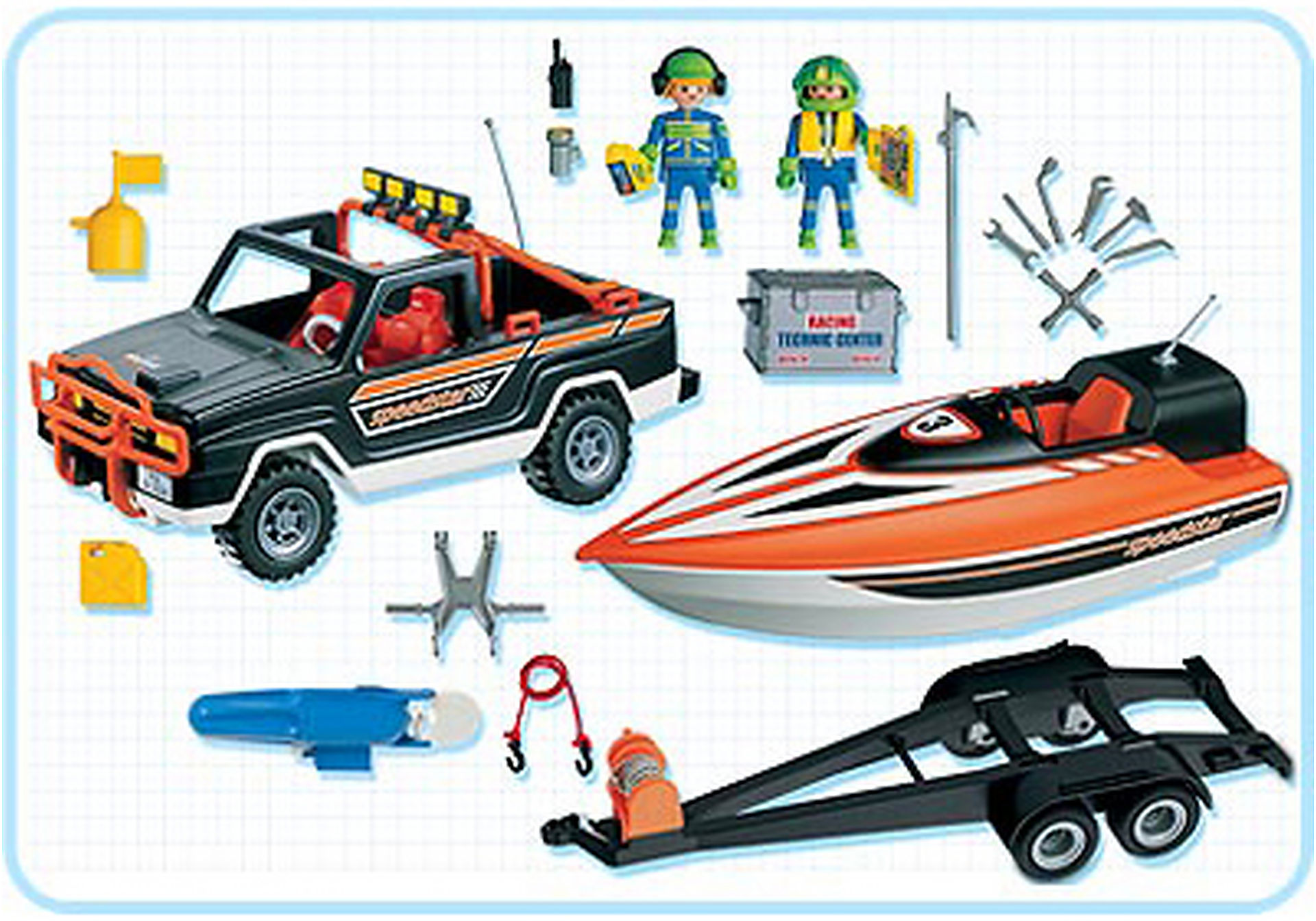 3399-A Speedster-Rennboot mit Pickup zoom image2