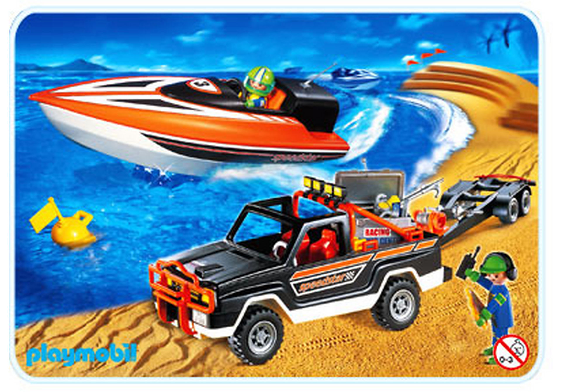 3399-A Speedster-Rennboot mit Pickup zoom image1