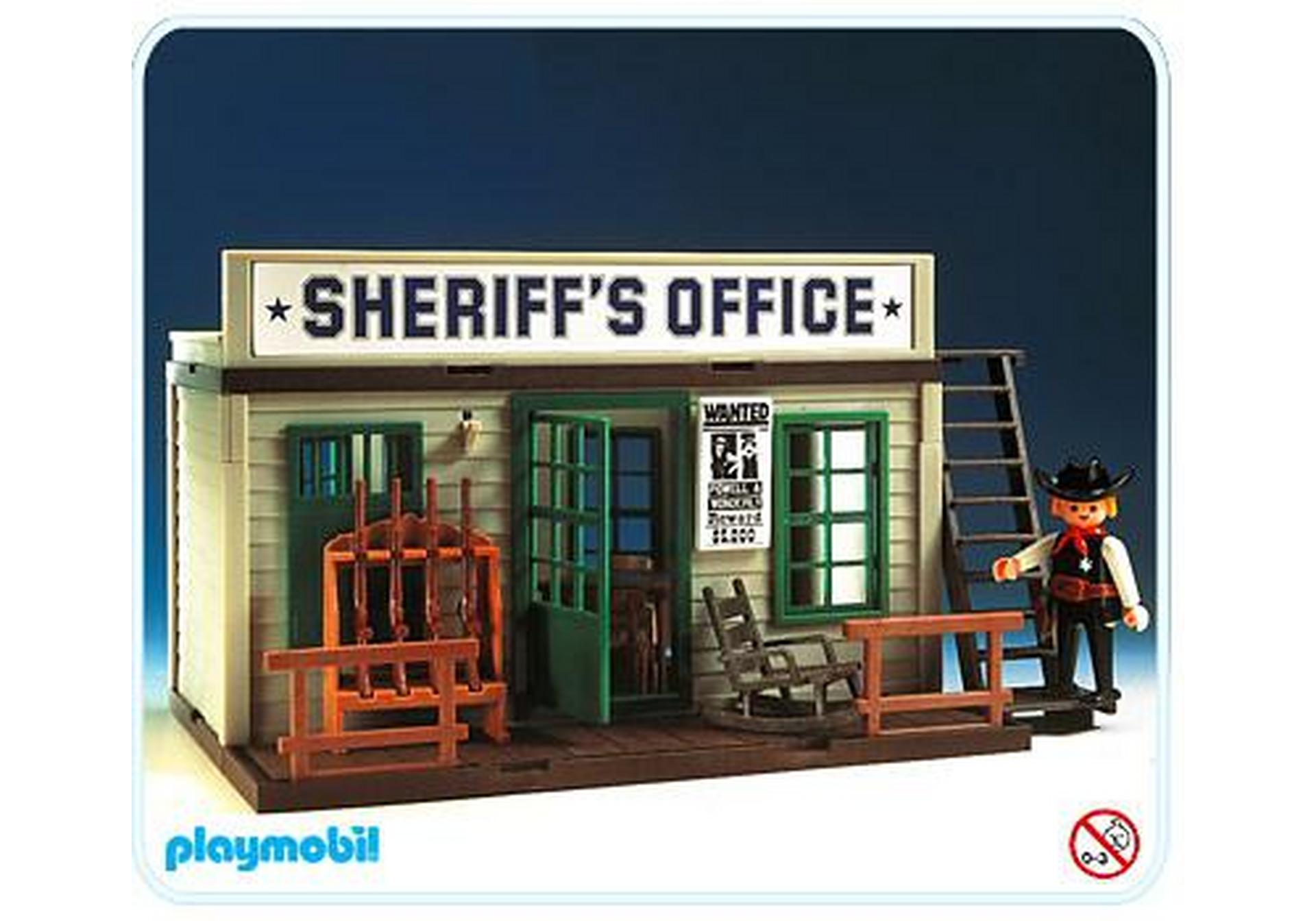 bureau du sheriff 3423 b playmobil france. Black Bedroom Furniture Sets. Home Design Ideas