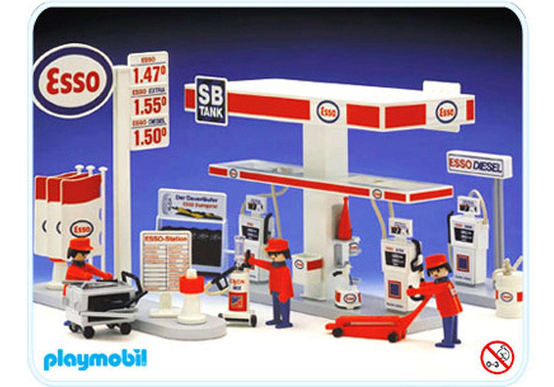 station service esso 3439 a playmobil france. Black Bedroom Furniture Sets. Home Design Ideas