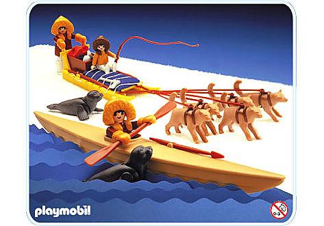 3466-A Esquimaux traîneaux kajak detail image 1