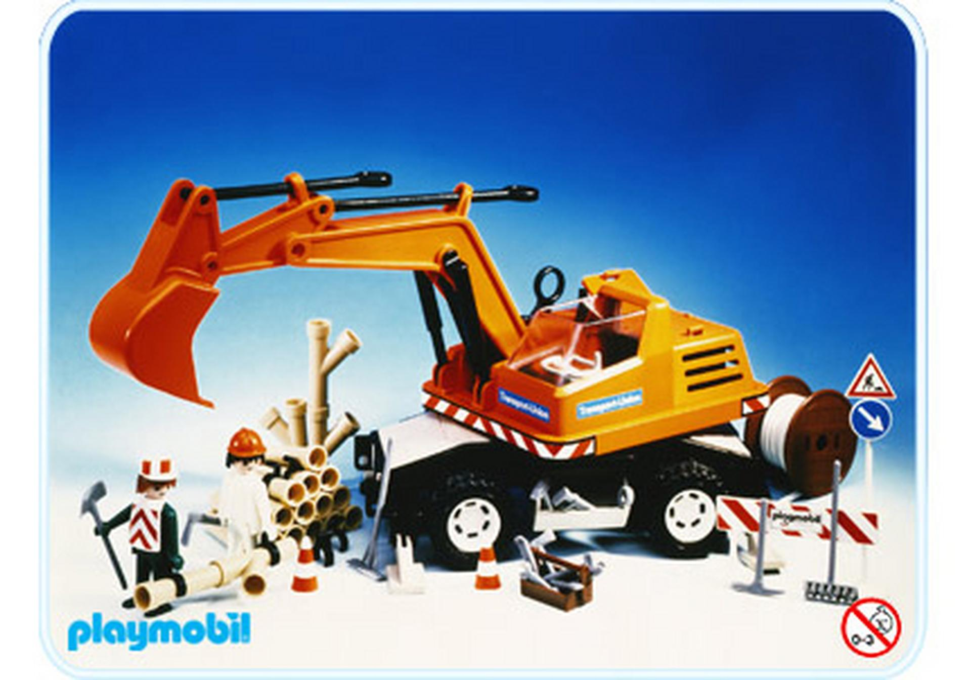camion pelleteuse 3472 a playmobil france. Black Bedroom Furniture Sets. Home Design Ideas