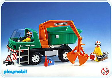 3475-A Camion grue + benne