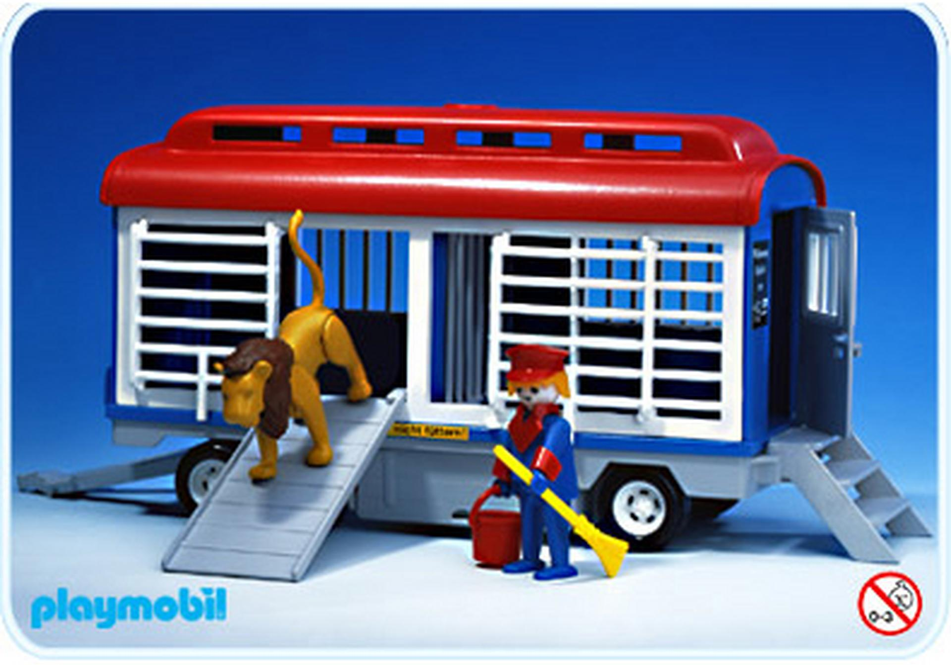 Camion cirque transport animaux 3514 a playmobil france - Cirque playmobil ...