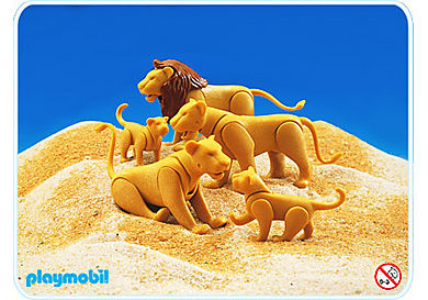3515-A Famille lions