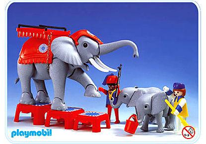 3519-A Dressage des éléphants detail image 1
