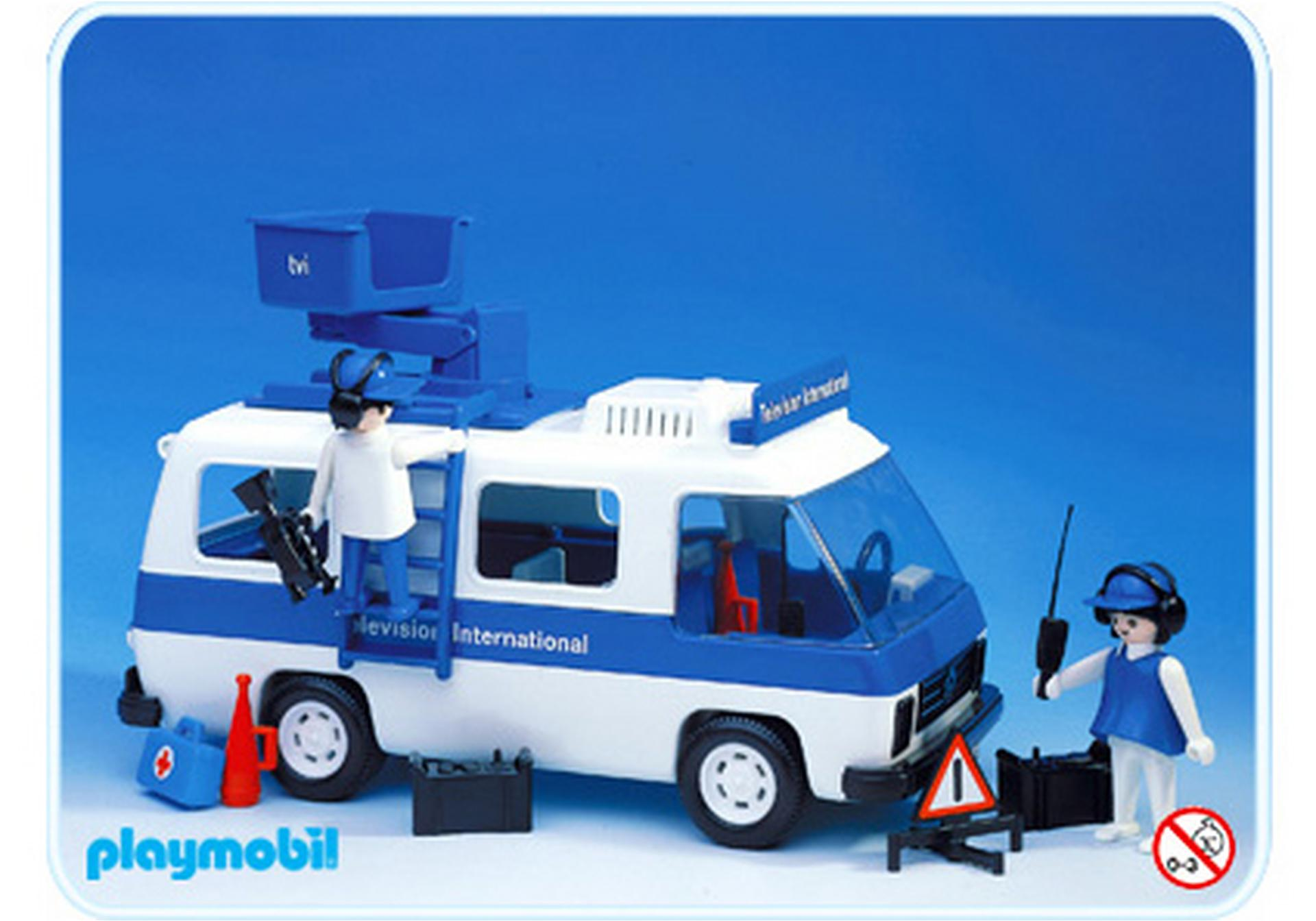 Camion television 3530 a playmobil france - Playmobil camion ...