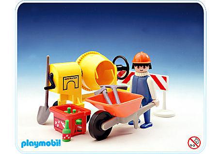 3562-A Bauarbeiter/Mörtelmischer detail image 1