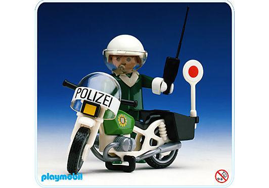 3564-A Polizist-Motorrad detail image 1