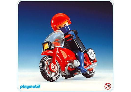 3565-A Rennfahrer/Motorrad detail image 1