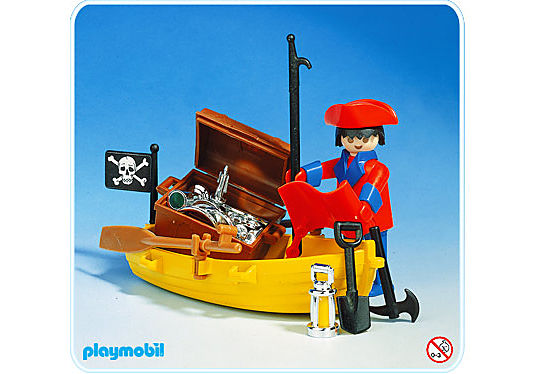3570-A Pirate avec barque detail image 1