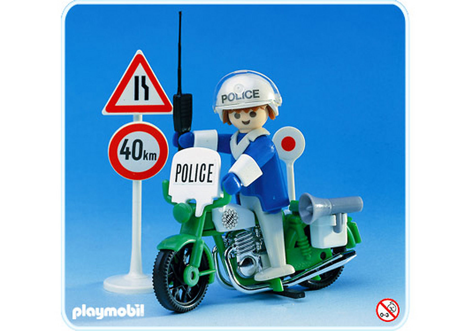 3572-A Polizist/Motorrad zoom image1
