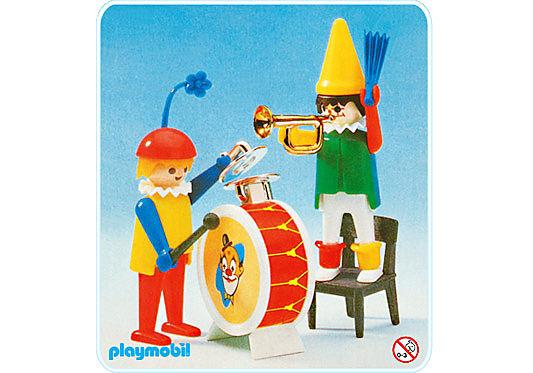 3578-A Clowns musiciens detail image 1
