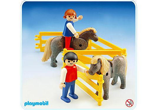 3579-A 2 enfants et 2 poneys detail image 1