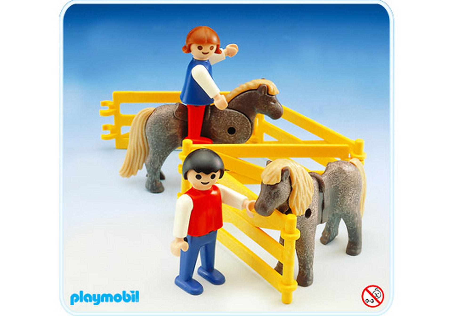 3579-A 2 enfants et 2 poneys zoom image1