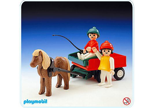 3583-A Poney et chariot detail image 1