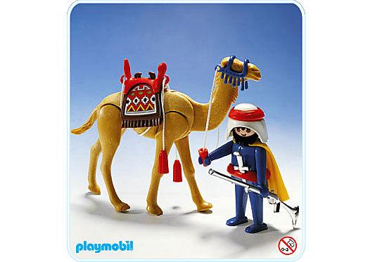 3586-A Arabe et dromadaire detail image 1