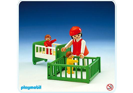 3593-A maman / 2 bébés / parc / lit detail image 1