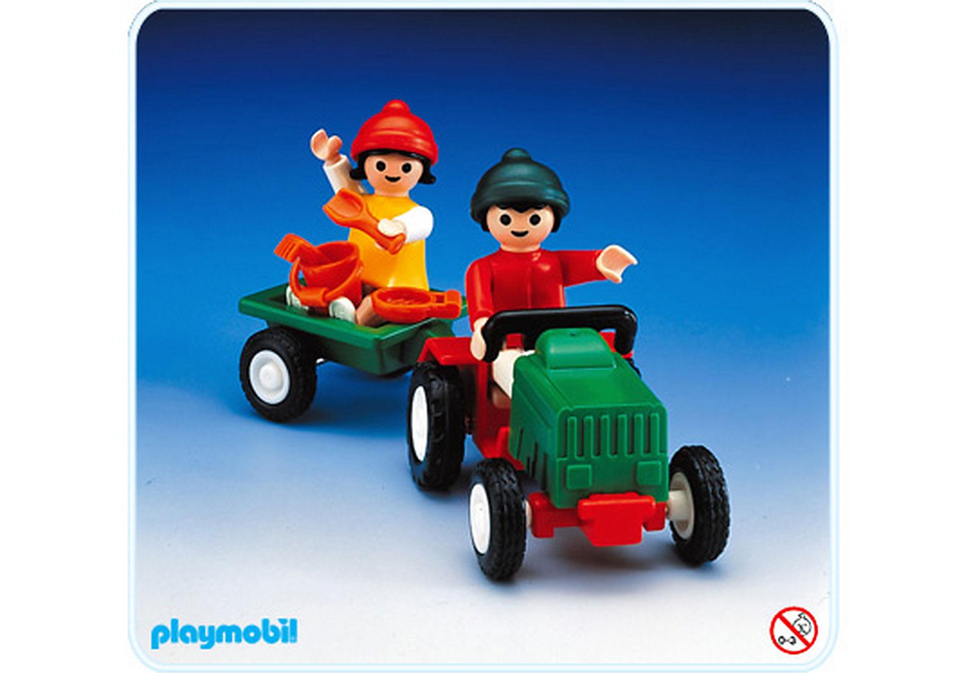 3594-A 2 enfants / tracteur / remorque zoom image1