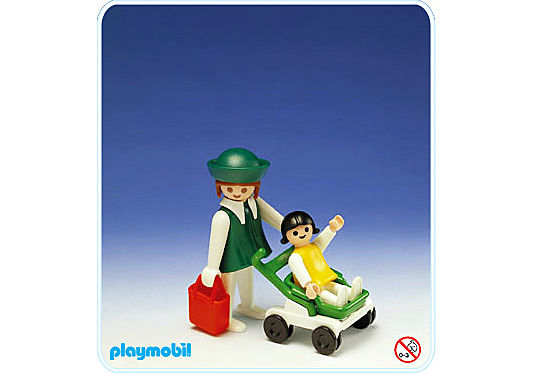 3597-A maman+enfant+poussette detail image 1