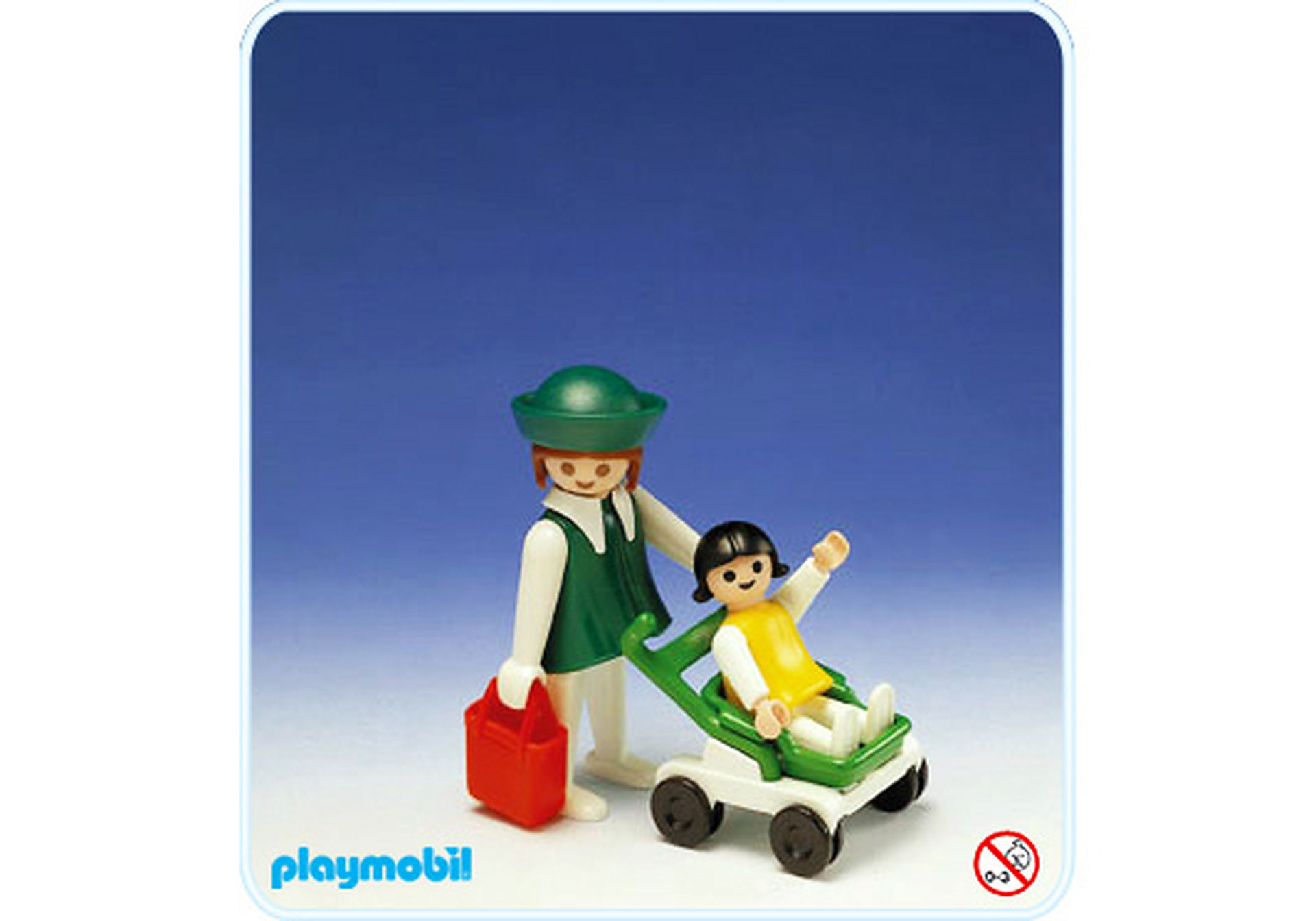 3597-A maman+enfant+poussette zoom image1