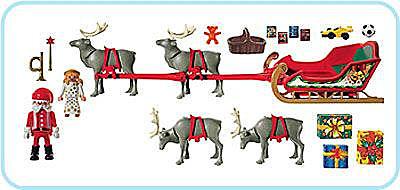 3604-A Rentierschlitten/Santa Claus detail image 2