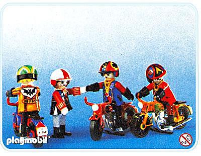 3616-A Motorradfahrer detail image 1