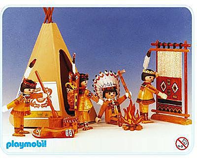 3621-A Indiens avec tente detail image 1