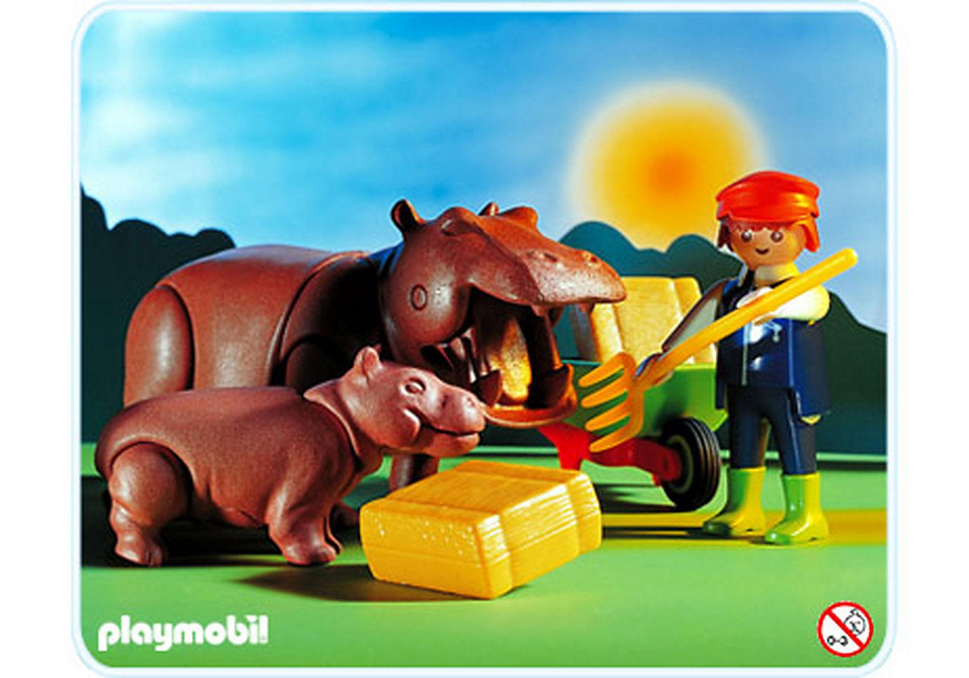 3639-A Hippopotames / gardien zoom image1