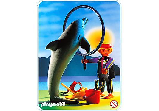 3649-A Delphin/Wärter detail image 1