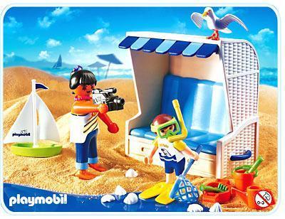 Strandkorb comic  Strandkorb - 3660-B - PLAYMOBIL® Deutschland