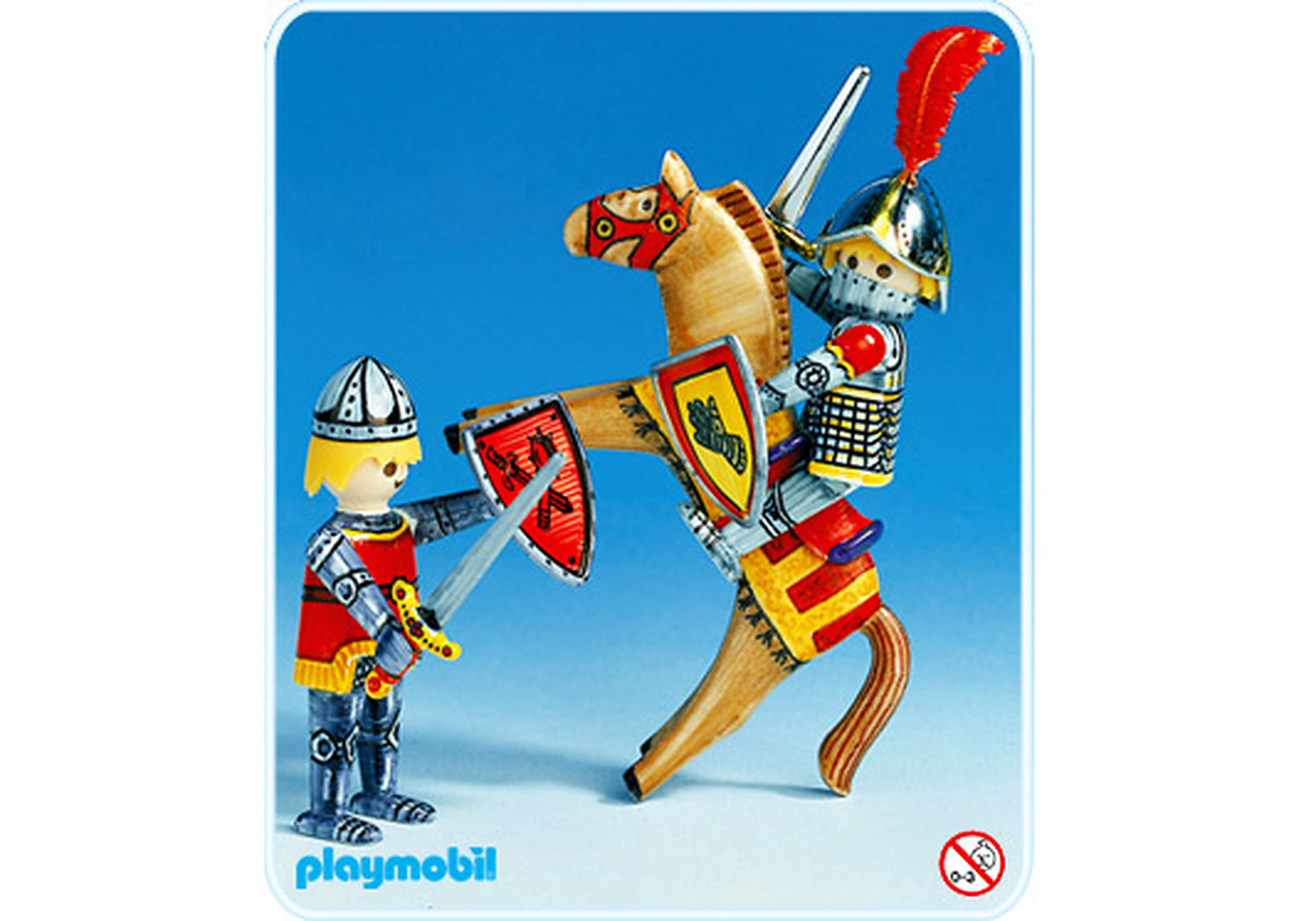 3661-A Chevalier avec cheval zoom image1