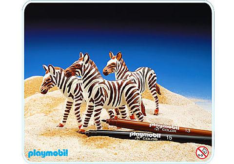 3673-A 3 Zebras detail image 1