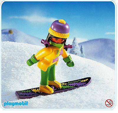 3683-A Snowboard-Fahrerin detail image 1