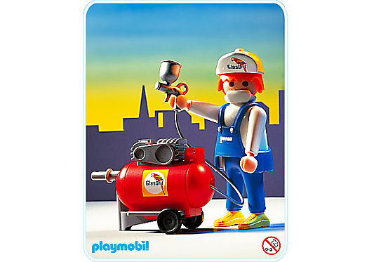 http://media.playmobil.com/i/playmobil/3697-A_product_detail/Peintre / compresseur