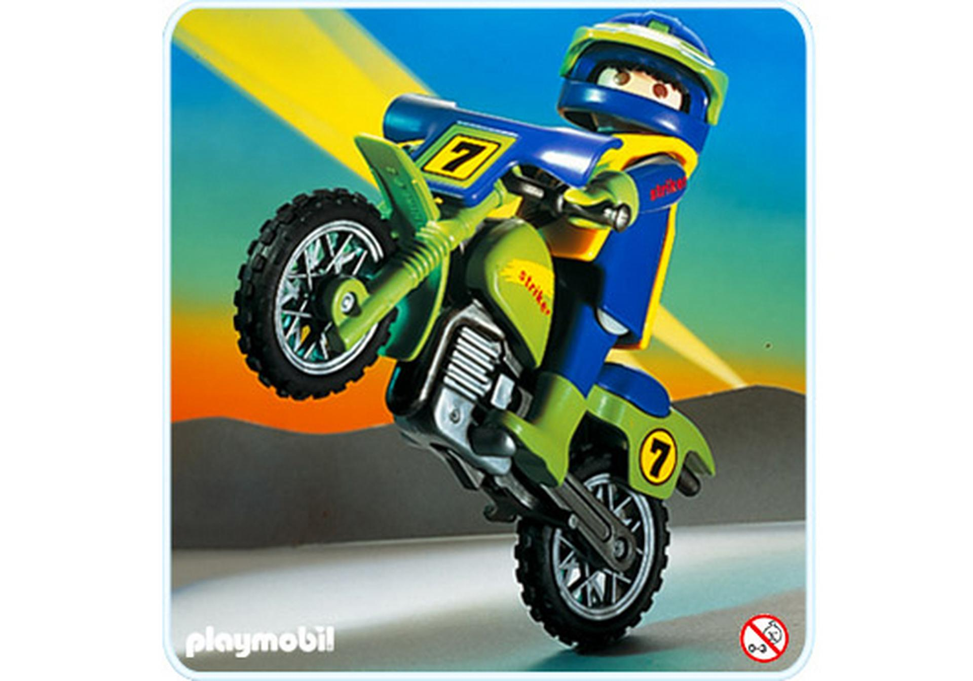 Moto trial 3698 a playmobil france - Moto playmobile ...