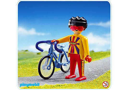 3710-A Rennradfahrer detail image 1