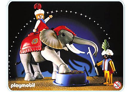 3711-A Eléphant de cirque et dresseur detail image 1