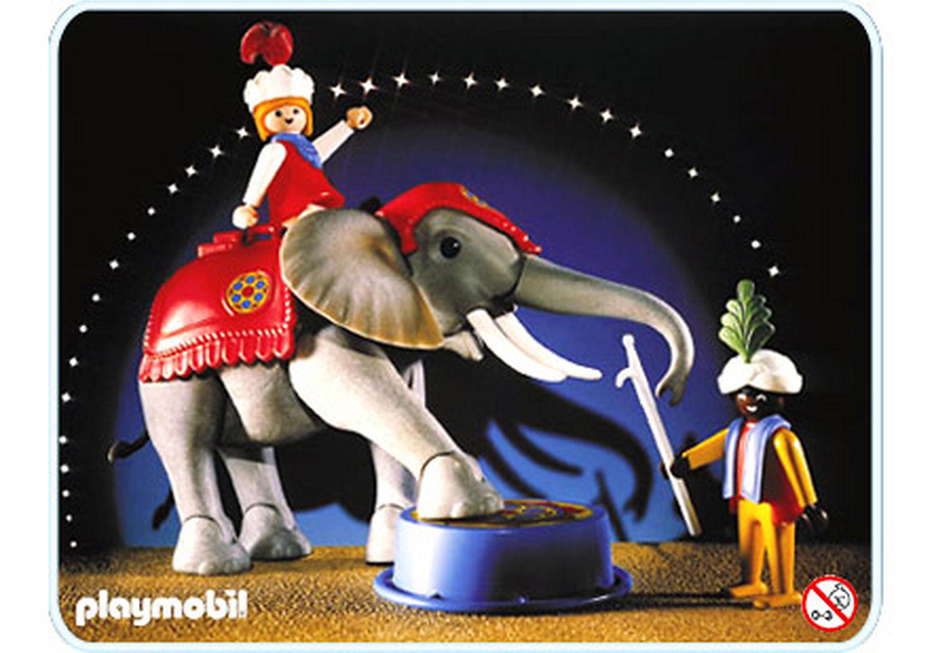 3711-A Eléphant de cirque et dresseur zoom image1