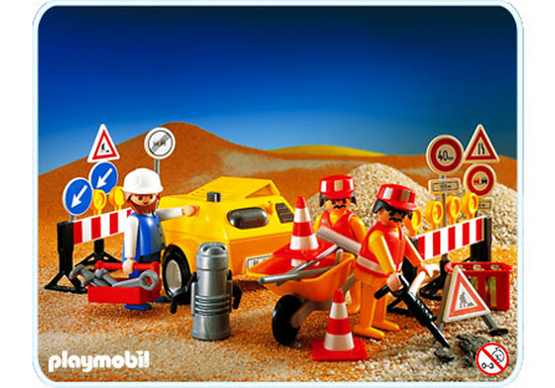 3745-A Straßenbau-Arbeiter zoom image1
