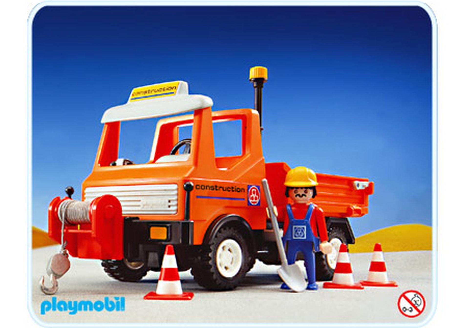 Camion de chantier 3755 a playmobil france - Playmobil camion chantier ...