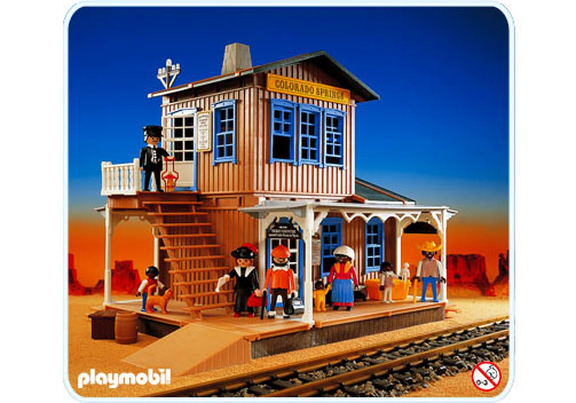 gare far west 3770 a playmobil france