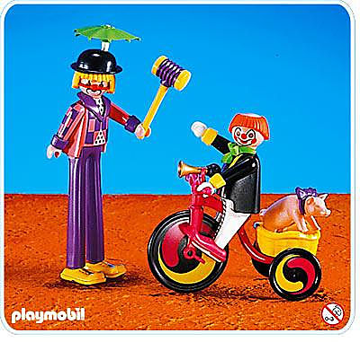 3808-A Clowns / tricycle detail image 1