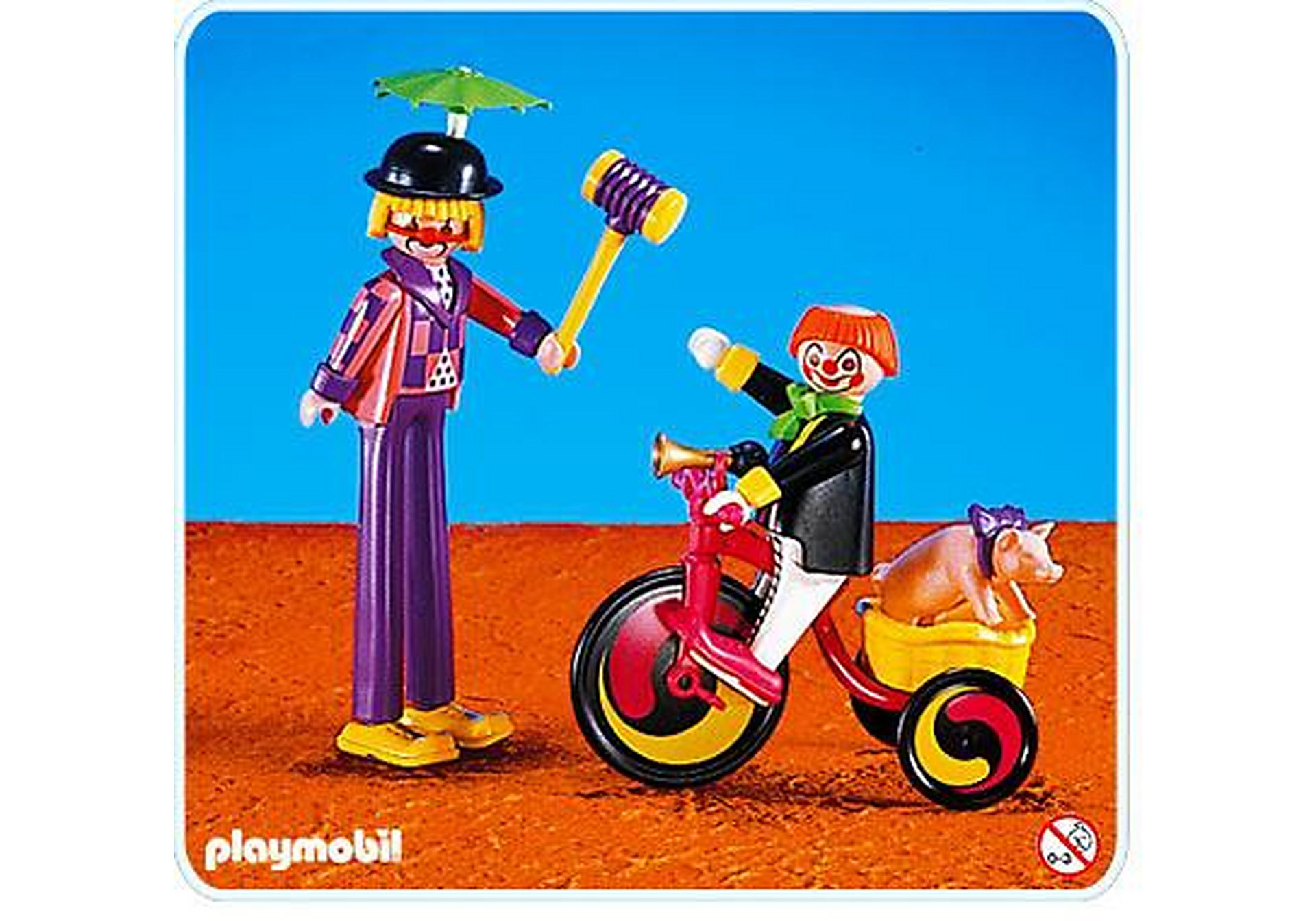 3808-A Clowns / tricycle zoom image1