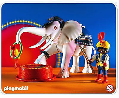 3809-A Dresseur d`éléphant blanc detail image 1