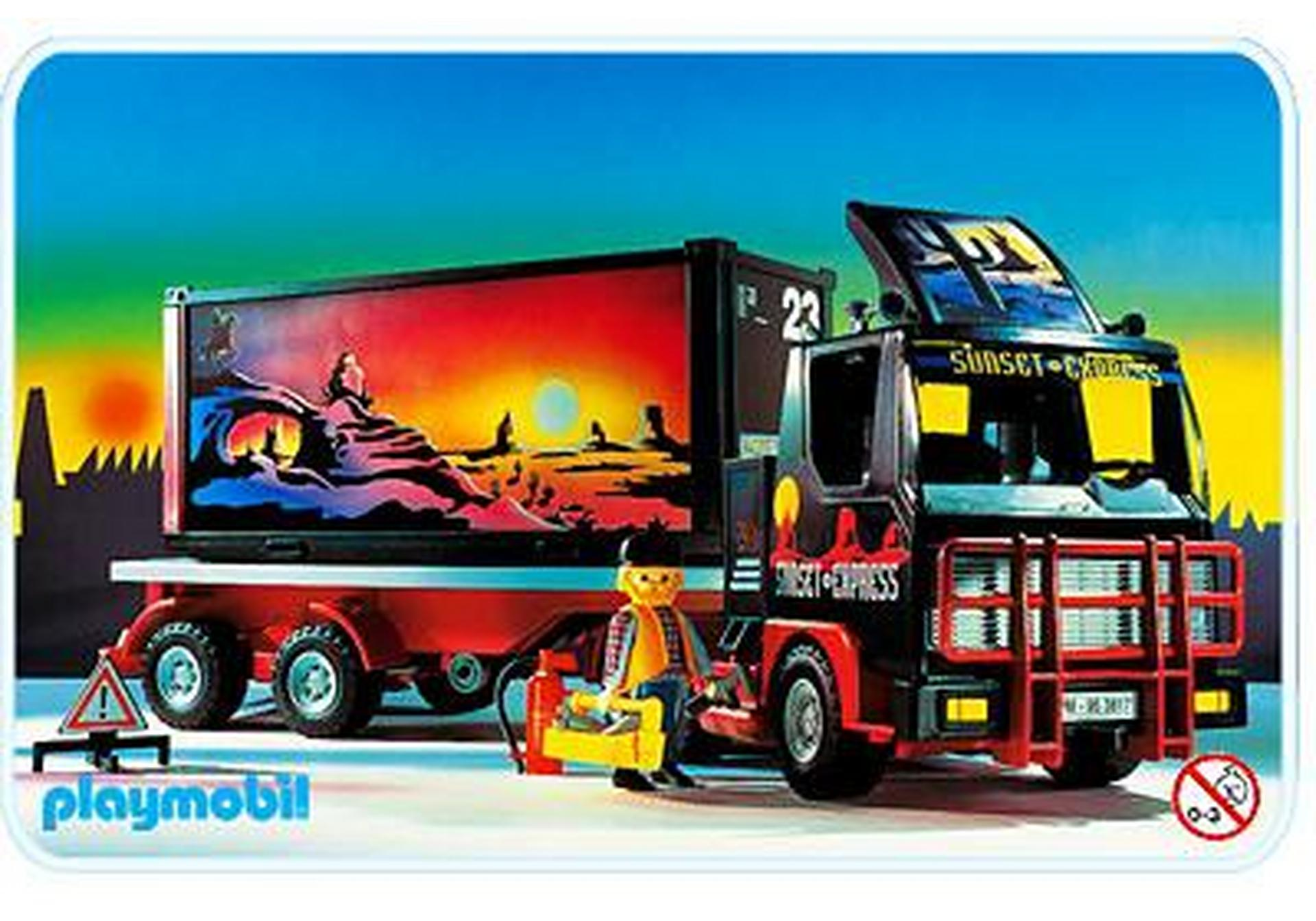 Camion remorque container 3817 a playmobil france - Playmobil camion ...