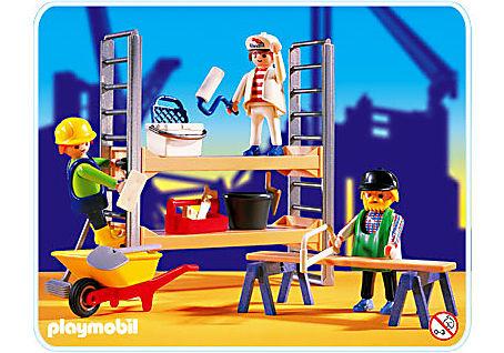 3833-A Ouvriers de chantier/ échafaudage detail image 1